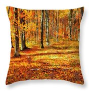 Here Comes Fall Throw Pillow