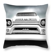 Here Comes The Sun - Gmc 100 Pickup 1958 Black And White Throw Pillow