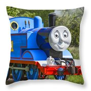 Here Comes Thomas The Train Throw Pillow