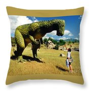 Here Fido Throw Pillow