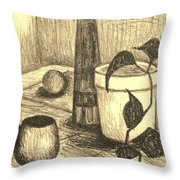 Here Is The Flashlight Throw Pillow