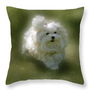 Here She Comes Throw Pillow