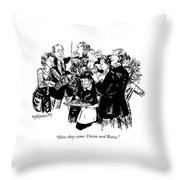 Here They Come: Detox And Botox Throw Pillow