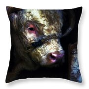 Hereford Bull 2 Throw Pillow