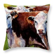 Hereford Ears Throw Pillow