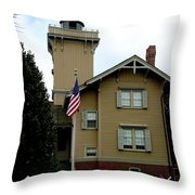 Hereford Inlet Lighthouse Throw Pillow