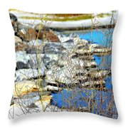 Hereford Inlet Rock Formations Throw Pillow