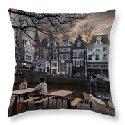 Kaizersgracht 451. Amsterdam. Holland Throw Pillow