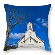 Heres The Church And The Steeple Throw Pillow