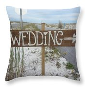 Here's The Wedding Throw Pillow