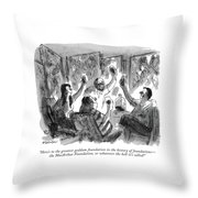 Here's To The Greatest Goddam Foundation Throw Pillow