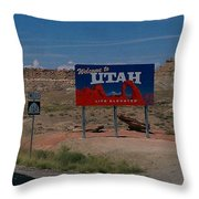 Here's Utah Throw Pillow