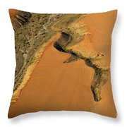 heridas de tierra Aerial photography Throw Pillow
