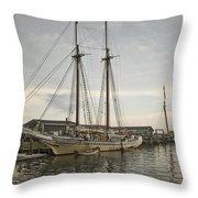 Heritage At Dock Throw Pillow