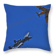 Heritage Flight A-10 F-86 Throw Pillow
