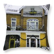 Heritage Home In Yellow Throw Pillow
