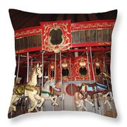 Heritage Looff Carousel Throw Pillow
