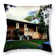 Heritage Sandstone House In Sydney Australia Throw Pillow