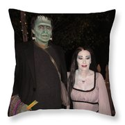 Herman And Lilly Munster Throw Pillow