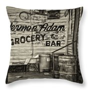 Herman Had It All - Sepia Throw Pillow