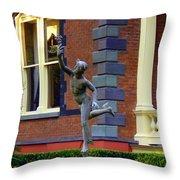 Hermes In The Garden Throw Pillow