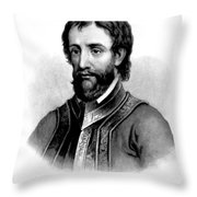Hernando De Soto, Spanish Conquistador Throw Pillow