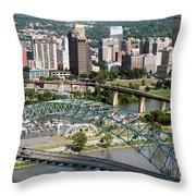 Hernando-desoto Bridge Memphis Throw Pillow
