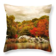 Hernshead In October Throw Pillow