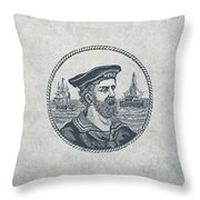 Hero Sea Captain - Nautical Design Throw Pillow