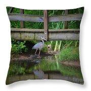 Heron 14-2 Throw Pillow