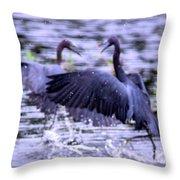 Heron Encounter - Battle - Fight Throw Pillow