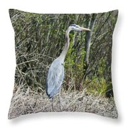 Heron Height Throw Pillow