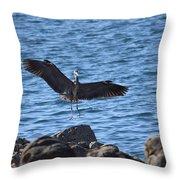 Heron Landing Throw Pillow