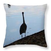 Heron On The River Throw Pillow
