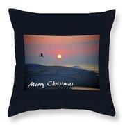 Heron Rising Throw Pillow