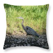 Heron Travels  Throw Pillow