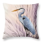 Herons Driftwood Home Throw Pillow