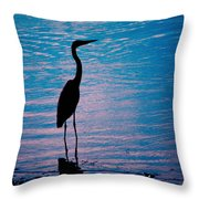 Herons Moment Throw Pillow