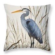 Herons Natural World Throw Pillow