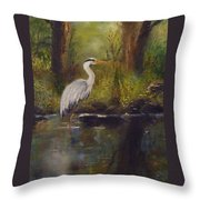 Herons Rest Throw Pillow