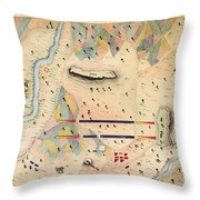 Herreras Map Of A Mexican War Campaign 1848 Throw Pillow