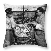 Herring Fishing Howth 1955  Throw Pillow