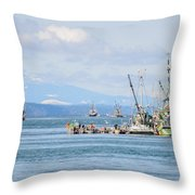 Herring Fleets Qualicum Beach Throw Pillow