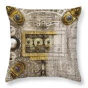 Herring Hall Marvin Co. Bank Vault Door Lock Throw Pillow