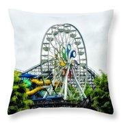 Hershey Park Ferris Wheel Throw Pillow