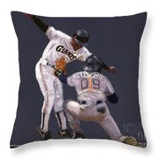 He's Out Throw Pillow