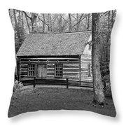 Hesler Log Home 10234b Throw Pillow