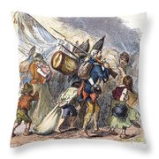 Hessian Mercenaries, 18th C Throw Pillow