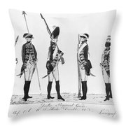 Hessian Soldiers Throw Pillow