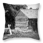 Hetchler House Shed Throw Pillow